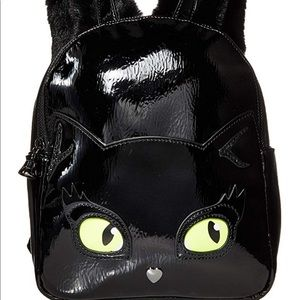 BETSEY JOHNSON resting kitsch cat face backpack